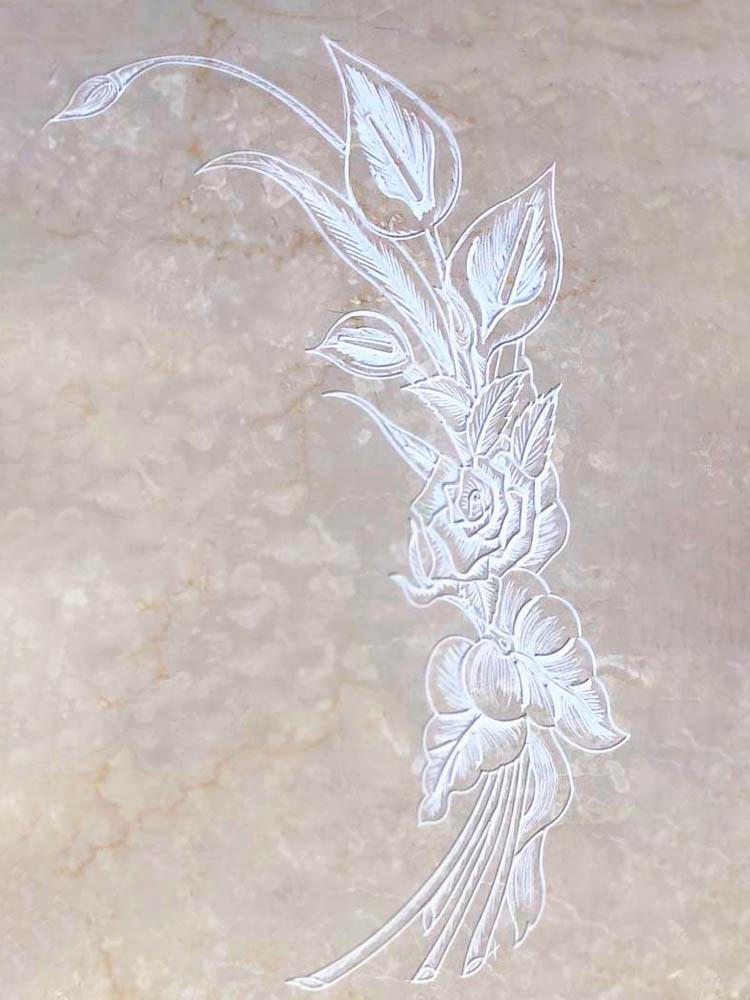 Decorazioni floreali in marmo o granito - Calla graffiata