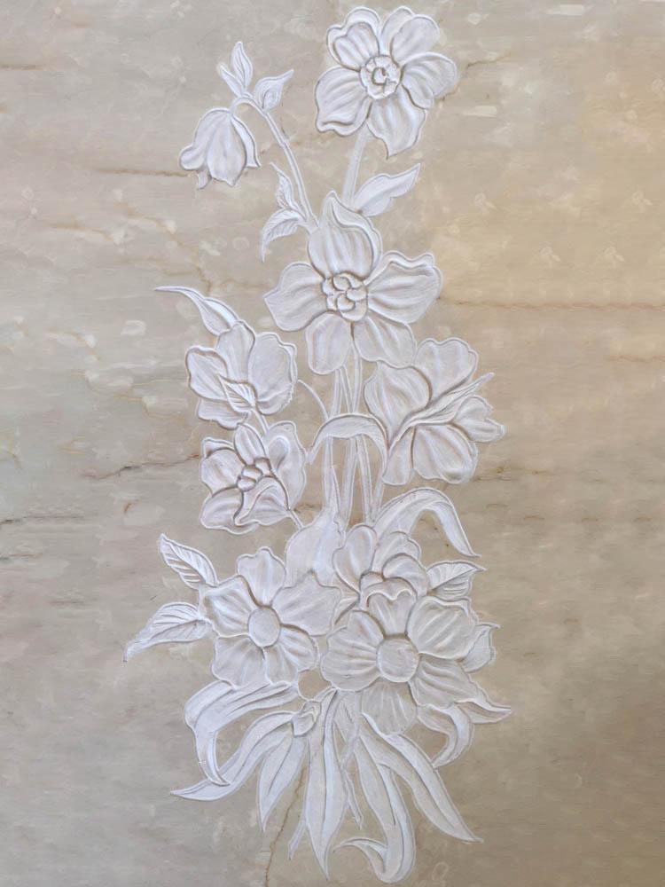 Decorazioni floreali in marmo o granito - Mazzo di fiori