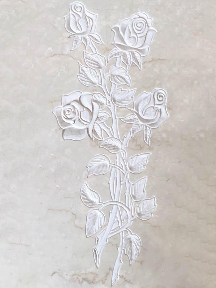 Decorazioni floreali in marmo o granito - Rose