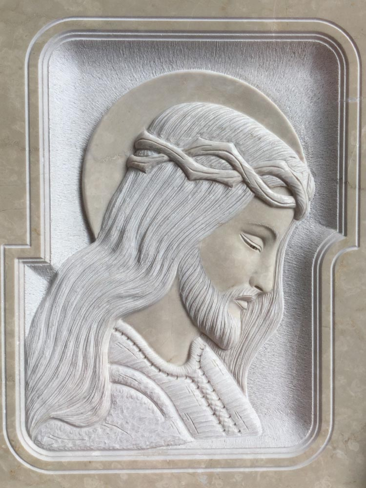 Christ in low relief