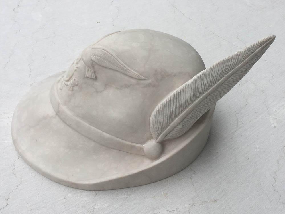 Custom works in marble or granite – Alpine hat