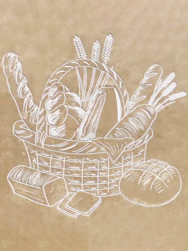 Custom works marble or granite – Basket of bread