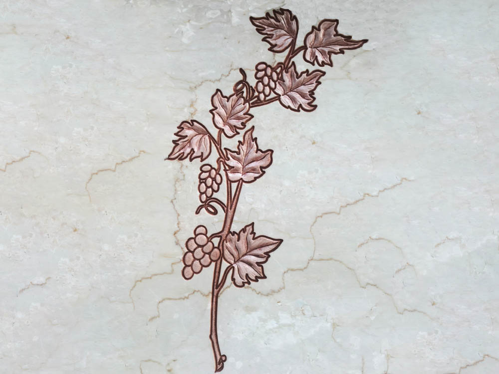 Floral decorations in marble or granite – grapevine