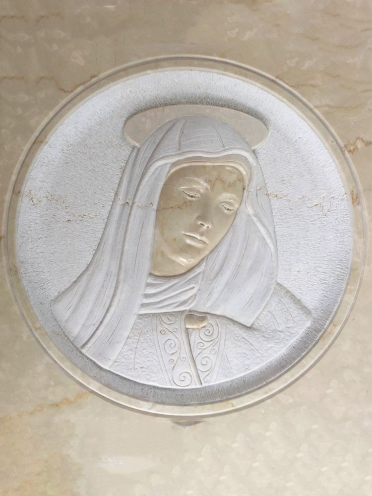 Madonna in low relief